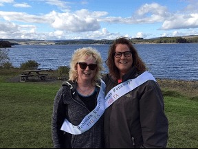 Sheena Robinson and her aunt June Banks at Kielder Water ahead of Kielder 10K.png